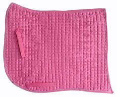 Swan-Tail / Swallow-Tail Dressage Saddle Pad. Pink with Metallic Silver Piping/Trim. PRI Equine #Dressage #HorseTack #Equestrian #Dressagetack