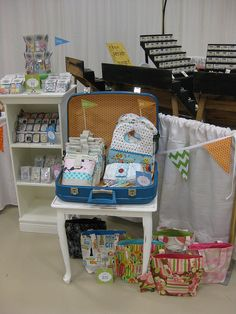 Craft Fair Booth Pink Holiday Suitcase