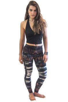 Brown Mix Patch Tie Dye Legggings - Koia Collective