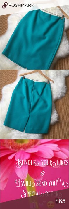 JCrew No2. Pencil Skirt Like new condition JCrew  No2. Pencil skirt in wool in a beautiful turquoise blue. J. Crew Skirts Pencil