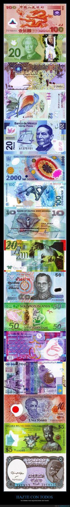 Los billetes más espectaculares del mundo (Mega Post)