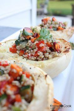 Quinoa & Veggie Stuffed Acorn Squash…..Recipe