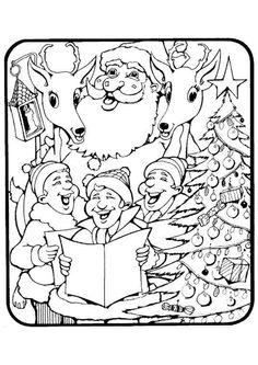 Kleurplaten Kerst Liedjes.50 Beste Afbeeldingen Van Kerstmis Kleurplaten In 2012