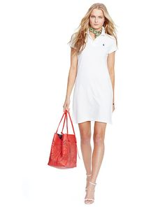 Cotton Mesh Polo Dress - Polo Ralph Lauren Short Dresses - RalphLauren.com