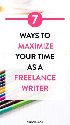 7 Ways to Maximize Your Time as a Freelance Writer. Learn how to be more productive in your work at home business as a freelance writer. Time management hacks for freelance writers. Business Tips, Online Business, Creative Business, Freelance Writing Jobs, Freelance Online, Time Management Tips, Work From Home Moms, Design Thinking, Make Money Blogging