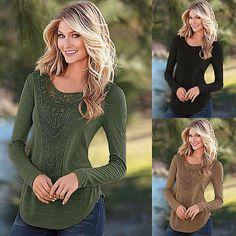 Frauen Casual Langarm-strickwaren Jumper Mantel Jacke Pullover Pullover