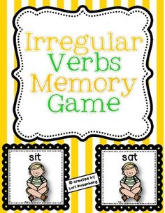 Here's a fun game for children to play to help them learn irregular verbs. It contains 27 irregular verb matches and a recording sheet.This produ. Grammar Activities, Teaching Grammar, Speech Activities, Teaching Language Arts, Speech Language Pathology, Language Activities, Teaching Reading, Speech And Language, Teaching English