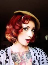 Vintage hairstyle - Cherry Dollface