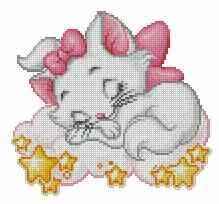 Vous souvenez-vous de Marie dans les Aristochats? Cette magnifique petite chatte au pelage blanc. C'est une des coqueluches des petites filles, un brin coquette comme ça mère, elle est tellement adorable! L'image ci-dessus représente, l'aspect final de...