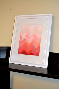Herringbone Paint Chip Art 2
