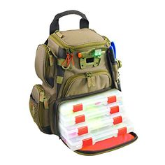 Wild River by CLC WT3503 Tackle Tek Recon Lighted Compact Backpack with Four PT3500 Trays - OMJ Outdoors