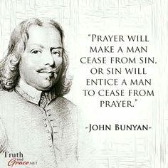 christian quotes | John Bunyan quotes | prayer | sin