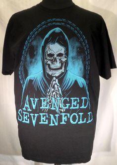 Avenged Sevenfold A7X Praying Skeleton Black T Shirt Size 2XL XXL #BayIsland #BasicTee #A7X