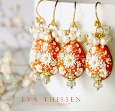 Darling Clementine. Beautiful handmade polymer clay earrings - Eva Thissen