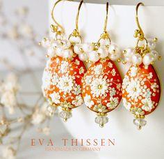 Darling Clementine. Beautiful handmade polymer clay earrings - Eva Thissen