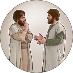 Um homem fala e outro homem escuta