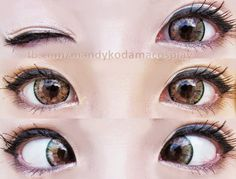 Barbie Bella 4 tones brown ensures glossy finish & dolly eye look. From up close they are practically noticable as the blend of different colors make them stand out. However; from distance the colors seem to be in harmony & do not catch attention. Buy here: http://www.uniqso.com/big-eyes-circle-lenses/4-tones-circle-lenses/barbie-bella-4-tones-brown/?tracking=538edb82ef814