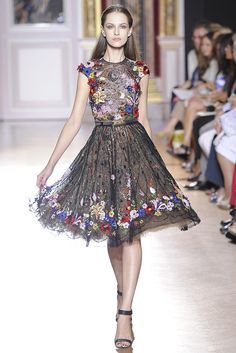 More #Flowers. Zuhair Murad Fall #Couture 2012 - Runway, Fashion Week, Reviews and Slideshows - WWD.com (Photo by Dominique Maitre)