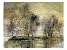 Willows in Morning Wind Giclee Print by Wanqi Zhang at Art.com
