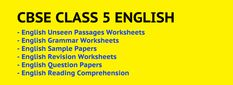 CBSE Class 5 English Worksheets English for Class 5 is very critical in building a strong foundation of the language& English Comprehension Passages, Reading Comprehension Worksheets, Worksheets For Class 1, English Grammar Worksheets, Concrete Nouns, Abstract Nouns, Model Question Paper, Grammar Practice, Revision Notes