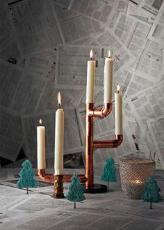 DIY Home Decor Project: Copper Pipe Candelabra