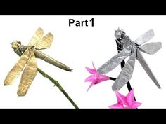 Dragon Fly Origami How To Fold A Paper Dragonfly Origami Dragonfly Easy Origami. Dragon Fly Origami Origami Dragonfly Tutorial Satoshi Kamiya Part 1 I. Origami Insects, Origami Animals, Origami Instructions Easy, Origami Tutorial, Kids Origami, Origami Ball, Origami Paper, Easy Origami Dragon, Dragonfly Photos
