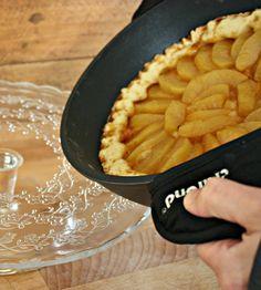 """Crostata di mele cotta in padella #cucinatasulfornello, ricetta di Nonna Mina #cucinandoconcrafond , del blog """"Quattro salti da Mina"""" #bloggercrafond http://www.crafond.com/index.php/dolci/392-crostata-di-mele-cotta-in-padella"""