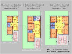house plans for 2 bedroom semi-detached cottages - Szukaj w Google