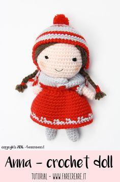 Anna - crochet doll schema e speigazioni uncinetto.