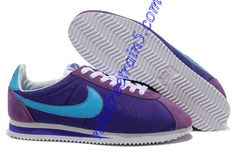 half off 7bd5c ba826 Nike Classic Cortez Nylon Mens Purple Chlorine Blue 488291 500