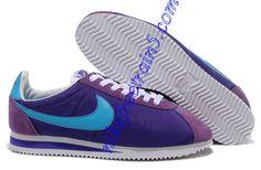 Nike Classic Cortez Nylon Mens Purple Chlorine Blue 488291 500