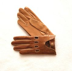 Car leather gloves Leather is of a snake made in by myleatherbag, $99.00
