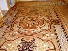 "Custom ""wood rug"" inlay - Wood Flooring - by Czar Floors"