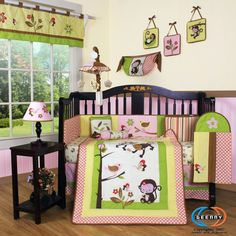 Nature Monkey Jungle Baby Room and Crib Set