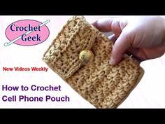 Crochet embellishment for crochet bags - YouTube