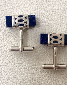 Currently at the #Catawiki auctions: Lapis Lazuli cufflinks in 925 silver