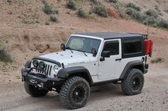 White Rubicon Jeep Wrangler with 35's on 2 door with 2.5 lift. JK Forum