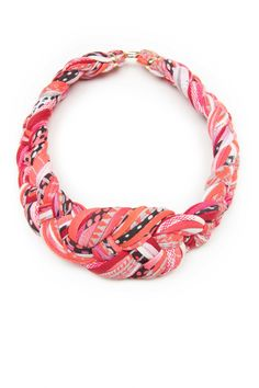 Necklace Pink Red Grey