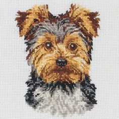 Yorkshire Terrier Cross Stitch Kit cakepins.com