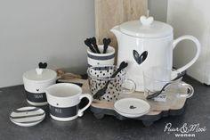 "Theeglazen | Set 2 | Dots & ""Happy ♥ Tea"" | Bastion Collections"