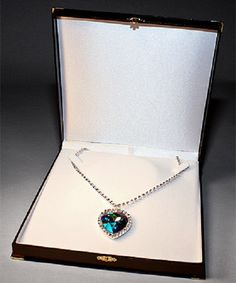 Swarovski Heart of the Ocean Necklace - Titanic Museum Attraction in Branson, Missouri and Pigeon Forge, Tennessee