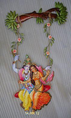 Radha kishan jhula.  Wrought iron handicrafts