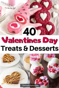 40 Valentines Day Treats Everyone Will Love – The Daily Spice Spoil your loved ones this Valentines Day with these yummy and easy Valentines Day treats! Perfect Valentines desserts for adults and kids alike! Valentine Desserts, Valentines Day Food, Mini Desserts, Valentines Baking, Valentines Day Chocolates, Valentine Treats, Dessert Recipes, Valentines Recipes, Valentines Breakfast