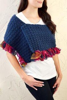 Ruffle Trimmed Scarf (Crochet)