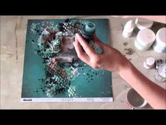 Mixed media tutorial Layout 7Dots Studio Frau_Muller - YouTube