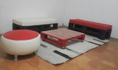 Muebles material reciclable