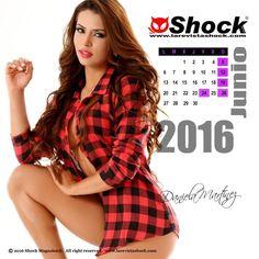 """Ya llego Junio, el mes del padre. Disfrútalo junto a nuestra Chica Calendario 2016 """"Daniela Martínez"""" Solo en Shock Magazine. Foto: Kike Rosero"""