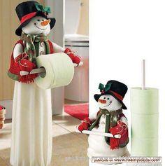 Fotos de manualidades Foamy - Juego de baño para Navidad