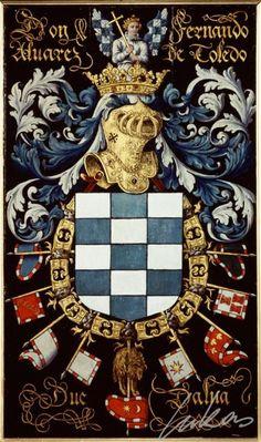 "(194) Fernando Alvarez de TOLEDO, 3e duc d'Albe (1508-1582) -- ""Don Fernando Alvarez de Toledo, duc Dalma"" -- Armorial plate from the Order of the Golden Fleece, 1559, Saint Bavo Cathedral, Gent"
