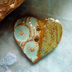 Handmade heart button